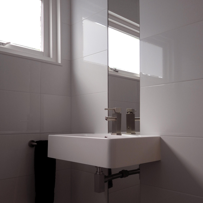 Volledige renovatie eengezinswoning ned interieurvormgeving - Badkamer m ...